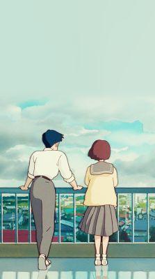 Whisper Of The Heart  Seiji and Shizuku Phone Backgrounds for kurostuki
