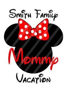 Disney familia vacaciones Mickey cabeza por SkipAlongGraphics