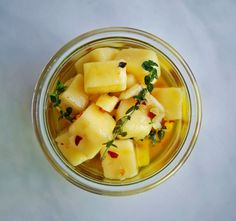 Honey-Thyme Marinated Sharp Cheddar Cheese Cubes. Try this with Orange Balsam Thyme. http://www.mountainvalleygrowers.com/thyvulgarisorange.htm