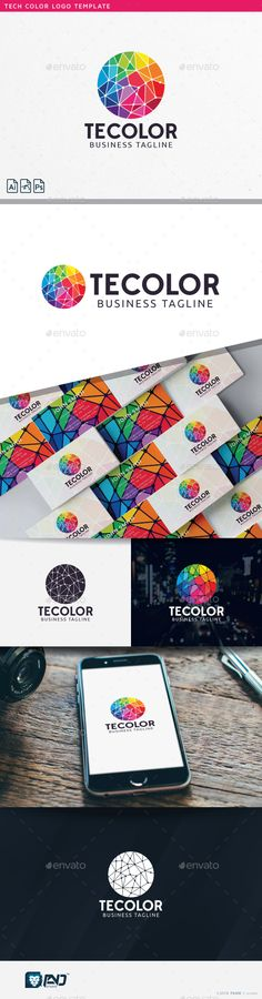 Tech Color Logo Template PSD, Vector EPS, AI #logotype Download: http://graphicriver.net/item/tech-color/14461795?ref=ksioks