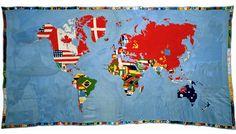 Mappa (Map). 1971-72 Game Boetti