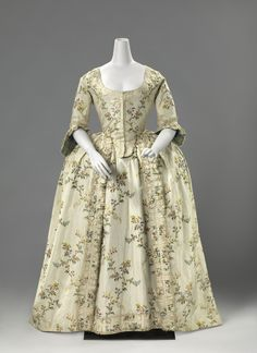 Wedding robe à la française ca. 1760  From the Rijksmuseum