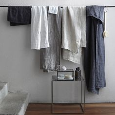 Lot de 2 serviettes de toilette en pur lin lavé Nida Am.Pm | La Redoute _ 32_ le lot de 2