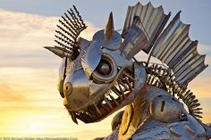 Lobster Dragon, Burning Man 2010 Dragon Art Car, Burning Man 2010 by Michael Holden, via Flickr