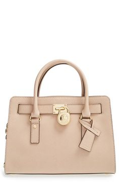 MICHAEL Michael Kors 'Medium Hamilton' Saffiano Leather Satchel available at #Nordstrom