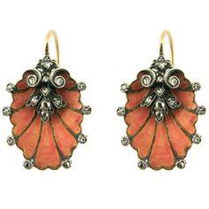 Art Nouveau Earrings, French ca.1890