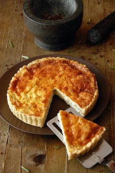 Tarta Quiche de Pollo al Curry con Puerros