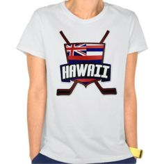 #Hawaii Ice #Hockey State Flag T Shirt. To see this design on a range of other products, please visit my store: www.zazzle.com/gamefacegear*/  #zazzle