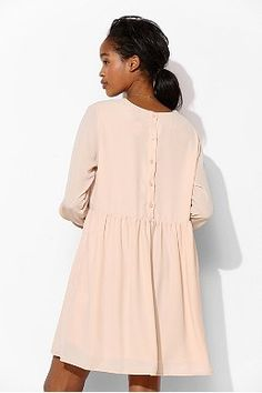The Whitepepper Back-Button Babydoll Dress