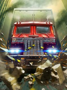 Autobots Leader Optimus Prime Artwork From Transformers Legends Game