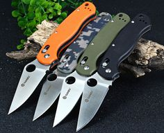 Ganzo G729-CA Axis Lock Folding Knife Pocket Clip - CAMOUFLAGE