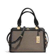 Coach Madison Mini Lexington Carryall In Jacquard Fabric (12.380 RUB) ❤ liked on Polyvore featuring bags, handbags, purses, cell phone purse, zip purse, man bag, zipper purse and mini hand bags