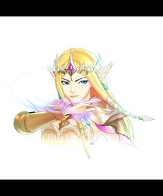 Stream Badge Character Illustration Commissions - Zelda by Jacqueline Choe