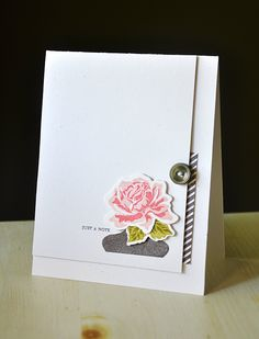 Just A Note Card by Maile Belles for Papertrey Ink (July 2012)