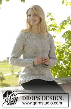 Virginia pullover by Drops Design, knit in the round!