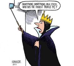""""""" Smartphone Smartphone on a stick, who has the fairest profile pic """""""