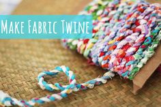 Use up all your scrap bits of fabric in this great fabric twine. You can use the twine for all kind of things like bracelets and necklaces, knit or crochet w...