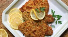 Christina's breaded pork schnitzel recipe is a simple way to turn regular pork chops into something really special that the family will love. Schnitzel Recipes, Pork Schnitzel, Breaded Pork Chops, Greek Recipes, Pork Recipes, Cooking Recipes, German Recipes, Shrimp Recipes, Chicken Recipes