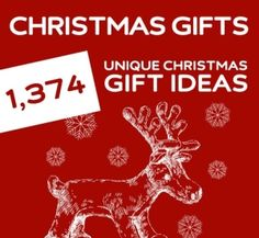 The holy grail for unique Christmas gifts. Over 1,374 gift ideas! by LynneD
