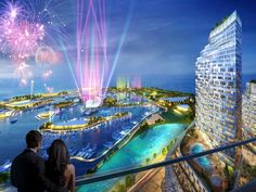 Designed by Forum Studio, The Pearl of Instanbul development is an ambitious project comprising a huge 154, 220sqm and will include a series of sculptural towers rising from a podium that steps down to the water like natural plateaus and will create public spaces, restaurants, cafes and retail areas for residents and tourists.