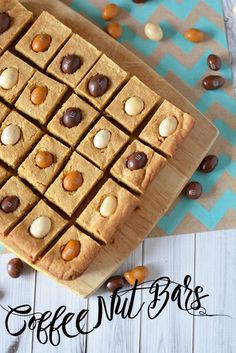 Make use of those Coffee Nut M&M's and use them to make these delicious desserts. This recipe is perfect for snack time and makes bite sized perfection with a coffee taste.