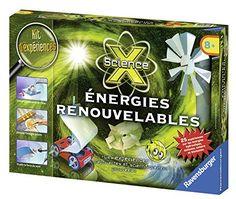 Ravensburger – 18873 – Jeu Educatif et Scientifique – Midi Science X – Energie Renouvelable: Dimensions du packaging : 33,50x23,10x5,50 cm…
