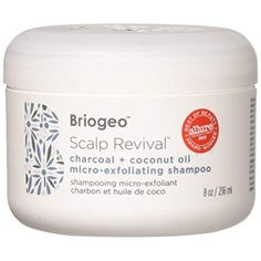Briogeo Scalp Revival Charcoal and Coconut Oil Micro-Exfoliating Shampoo, 8 Ounce Shampoo For Dry Scalp, Organic Shampoo, Sulfate Free Shampoo, Moisturizing Shampoo, Natural Shampoo, Itchy Scalp, Tea Tree Oil Shampoo, Apple Cider Vinegar Shampoo, Scalp Problems