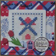 Trijntjes Cards: Greetings from Holland - Trijntjes Cards: Greetings from Holland - # Tiny Cross Stitch, Cat Cross Stitches, Cross Stitch Heart, Cross Stitch Borders, Cross Stitch Flowers, Cross Stitch Kits, Cross Stitch Designs, Cross Stitching, Cross Stitch Embroidery
