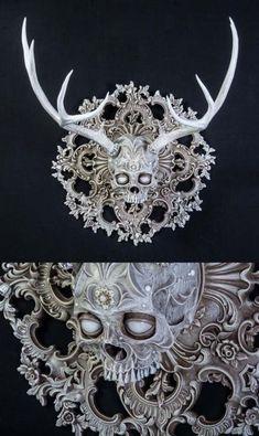 "socialpsychopathblr: "" Chris Haas sculpts and embellishes animal skulls into mystical creatures. Skull Decor, Skull Art, Goth Home Decor, Gothic House, Gothic Mansion, Bone Carving, Wax Carving, Animal Skulls, Skull And Bones"