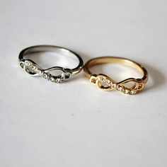 Delicate Infinity Ring,cheap fashion ring shop at : http://Costwe.com/fashion-cheap-rings-c-47_43.html