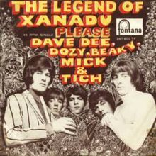 """""""The Legend of Xanadu"""" is a single by Dave Dee, Dozy, Beaky, Mick & Tich that reached number one in the UK Singles Chart in 1968 Bubblegum Pop, Classic Rock Bands, Uk Singles Chart, 60s Music, Recorder Music, Northern Soul, British Invasion, Pop Singers, Music Bands"""