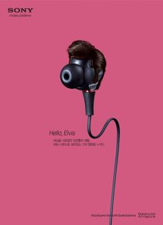 Sony Earphone featuring Elvis, Jimi, Wolfang, and Michael. Advertising Agency: Welcomm Publicis Worldwide, Seoul, S.Korea