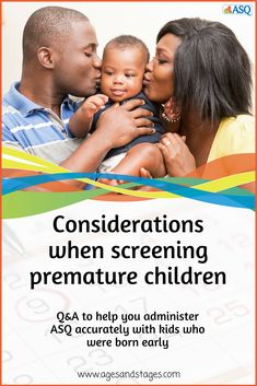 How should you adjust the ASQ screening process with a child who was born prematurely? Read this article for answers to some of the most common questions we receive. Consideration, Age, This Or That Questions, Reading, Children, Tips, Kids, Advice, Reading Books