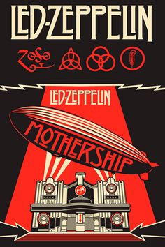 Led Zeppelin owns one of the most famous band logos ever ➤ http://mortimerland.com/blog-corporate-branding-designers/10-best-band-logos-ever-top-music-logo-designers/ | #music #rock #poster #design