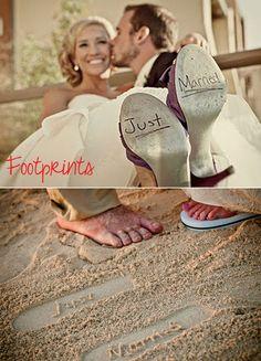 Footprints: Just Married