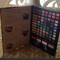 """Victoria's Secret makeup kit limited edition Victoria's Secret runway beauty makeup kit 84 makeup must-haves for infinite looks. 56 sexy shadow shades 16 ultra- glam lip colors ...and much more  few colors are lightly used but most are brand new. Size about 12""""/ 10"""" inches  Victoria's Secret Makeup Eyeshadow"""