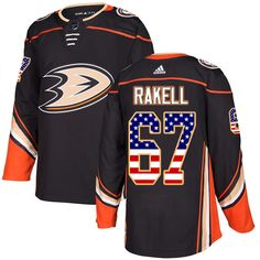 092dfdd0e Adidas Ducks  67 Rickard Rakell Black Home Authentic USA Flag Stitched NHL  Jersey Nhl Jerseys