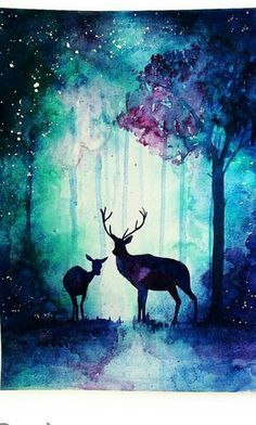 diy wood painting techniques - Diy Techniques and Supplies . diy wood painting techniques – Diy Techniques and Supplies Art Inspo, Painting Inspiration, Wood Painting Techniques, Enchanted Wood, Art Watercolor, Simple Watercolor, Watercolor Pictures, Galaxy Painting, Night Sky Painting