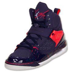 the latest f7533 98867 Jordan Flight 45 High Kids  Shoes, Imperial Purple Crimson Grey 547769-