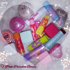 #lipbalm #revlon #maybelline #victoriasecret #juicycouture #rainbow #lipbutter #babylips #bliss