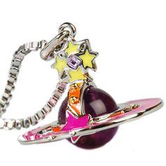 <3 Vivienne Westwood Amazing cute vintage pink lightning orb  neckalce! <3 <3 Get it now by clicking the link below! <3 <3NANA<3 Dakota rose <3