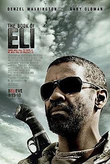 The Book of Eli on DVD June 2010 starring Denzel Washington, Gary Oldman, Mila Kunis, Ray Stevenson. The story centers on a lone hero named Eli (Denzel Washington) who must fight his way across the wasteland of post apocalyptic America to pr Film Movie, Quote Movie, See Movie, Epic Movie, Denzel Washington, The Book Of Eli, Gary Oldman, Movies Showing, Film Music Books
