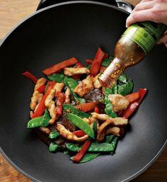 Student recipes chicken stir fry