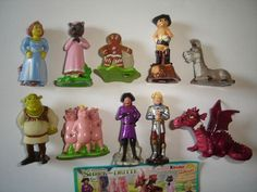 SHREK 3 THE THIRD 2007 KINDER SURPRISE FIGURES SET -  FIGURINES COLLECTIBLES #KinderSurprise