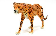 Animal Paper Model - Leopard Free Template Download - http://www.papercraftsquare.com/animal-paper-model-leopard-free-template-download.html#AnimalPaperModel, #Leopard