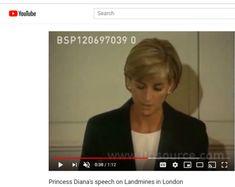 Princess Diana's speech on Landmines in London Youtube Search, Princess Diana, Change The World, London, Lady Diana, London England