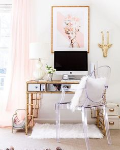 Your work or study place should inspire you! How's this for a study space via…