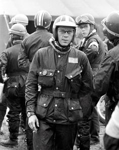 Steve McQueen.  When people wore Belstaff because they also rode motorcycles.