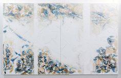 fujii  「おうめふうけい.3」    (2010)    材料:油彩、テープ、キャンバス    162×261