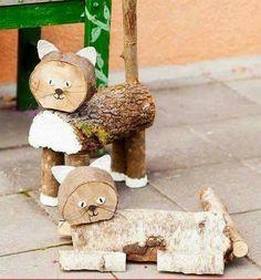 Bildergebnis für topp bastelbücher ländliche winterwelt - Another! Wood Log Crafts, Wood Slice Crafts, Wood Projects, Woodworking Projects, Craft Projects, Book Crafts, Diy And Crafts, Wood Animal, Wood Creations